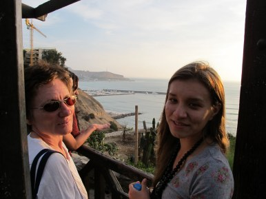 Nadine and Helen in Barranco