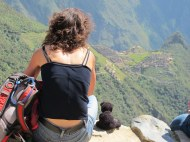 You meet all kinds of visitors at Machu Picchu