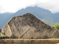 Sacred Stone replicates the form of the mountain in the background