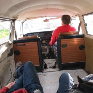 taking the VW Bus for a spin