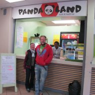 Panda Land - Darryl's health food store he founded at University of Cape Town when he was still a student there