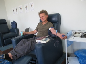 donating blood for Malawi