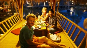 Dinner with our Couchsurfing host Alda